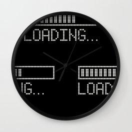 Loading Time Bar Wall Clock