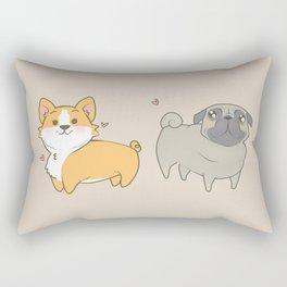 Corgi and pug Rectangular Pillow