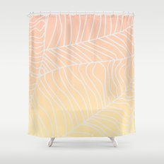 TROPICAL LEAF - dreamy look (pink and yellow) Shower Curtain