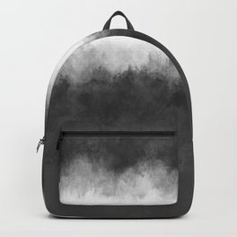 Dove Gray and White Light Abstract Backpack