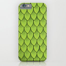 Green leaf scale pattern iPhone Case