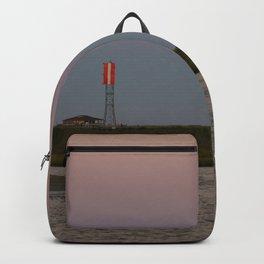Romantic Galveston Beach Strawberry Full Moon Backpack