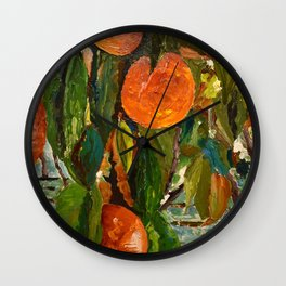 Jimmy and the Giant Peach Tree Wall Clock