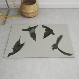Common Starlings Rug