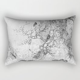 Landscape with Rapids BW Rectangular Pillow