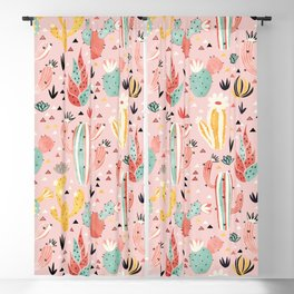 Pink Desert pattern Blackout Curtain