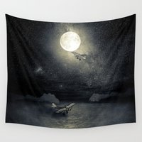 airplanes Wall Tapestries featuring Chapter V by Viviana Gonzalez