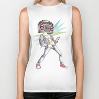 radiohead Biker Tanks featuring RadioHead by Andrea Fonseca Illustration