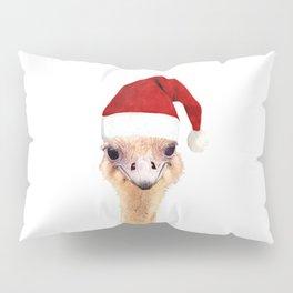 Ostrich Christmas Pillow Sham