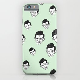 Johnny Cash Pattern iPhone Case
