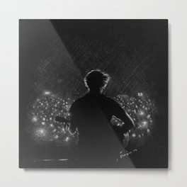 Musician in the light Metal Print