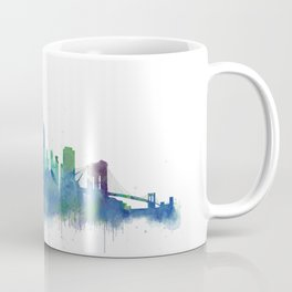 NY New York City Skyline NYC Watercolor art Coffee Mug