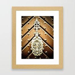 Brass Door Knocker Framed Art Print