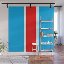 TEAM COLORS 10...RED , WHITE LIGHT BLUE Wall Mural