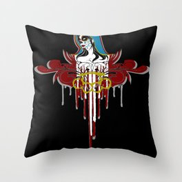 Day of the Dead Saint Throw Pillow