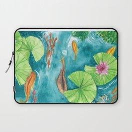 Watercolor Koi Pond Laptop Sleeve