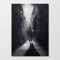 running Canvas Prints featuring Running. by shugmonkey
