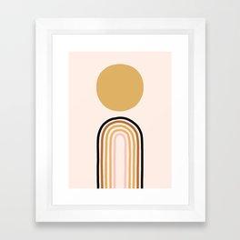 Morning Sunrise Above the Rainbow Framed Art Print