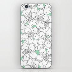 Cherry Blossom With Mint Blocks - In Memory of Mackenzie iPhone & iPod Skin
