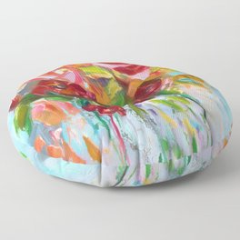 Pink Abstract - I Floor Pillow