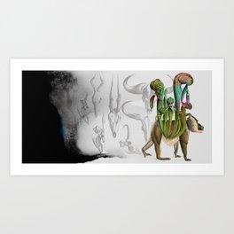 Mandrillus evolution Art Print