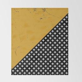 Swiss crosses (grunge) Throw Blanket