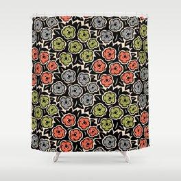 Mid Century Modern Flower Bouquet Pattern 946 Shower Curtain