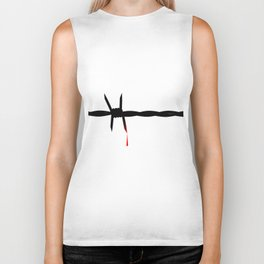 Blooded Barbed Wire Biker Tank