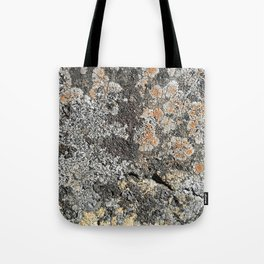 Lichen on the granite rock Tote Bag