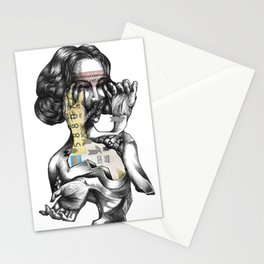 lottery girl Stationery Cards