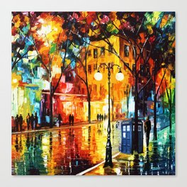 Tardis Time Starry Night Canvas Print