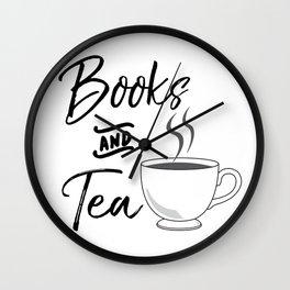Books & Tea Wall Clock
