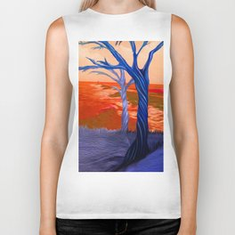"""Wind Whispers & Wave Lullabies"" Biker Tank"