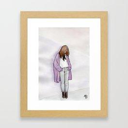 Cozy Cardigan Framed Art Print