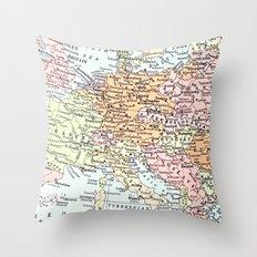 European tour Throw Pillow