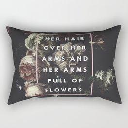 Arms Full Of Flowers Rectangular Pillow
