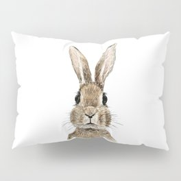 cute innocent rabbit Pillow Sham