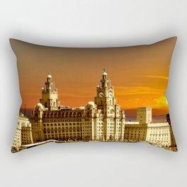 sunset over the graces Rectangular Pillow