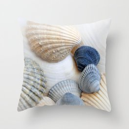Just Sea Shells Throw Pillow
