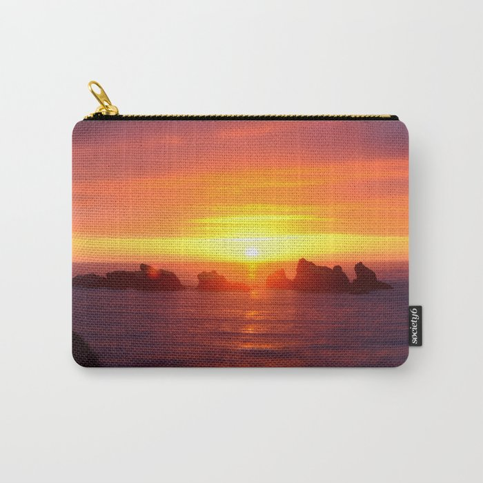 Colorful ocean Carry-All Pouch