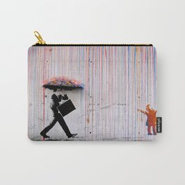 Banksy Umbrella Rainbow Carry-All Pouch