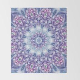Blue, Purple, and Pink Mandala Throw Blanket