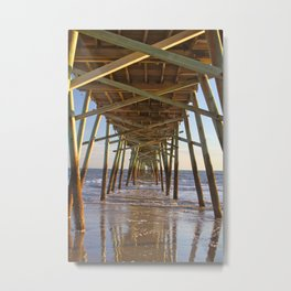 Under the Pier, Into the Sea Metal Print