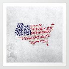 land of the free Art Print