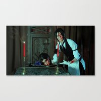 kuroshitsuji Canvas Prints featuring Halloween Treat - Kuroshitsuji by Lalasosu2