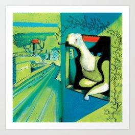 ORANGE ROOM Art Print