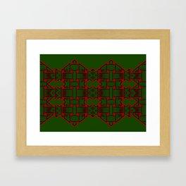 Weave on green background-1 Framed Art Print