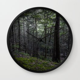 Poconos Forest Wall Clock