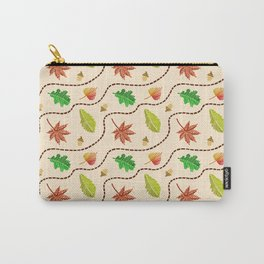 Autumn Leaf Wave Carry-All Pouch