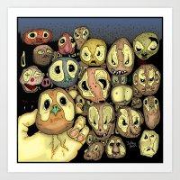 potato Art Prints featuring Potato animals by Johan Malm